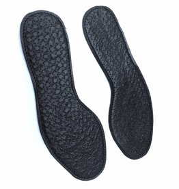 Leather insoles with pin prick