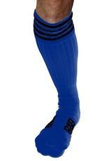 RoB RoB Boot Socks blauw met zwarte strepen