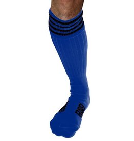 RoB RoB Boot Socks Blue with Black Stripes
