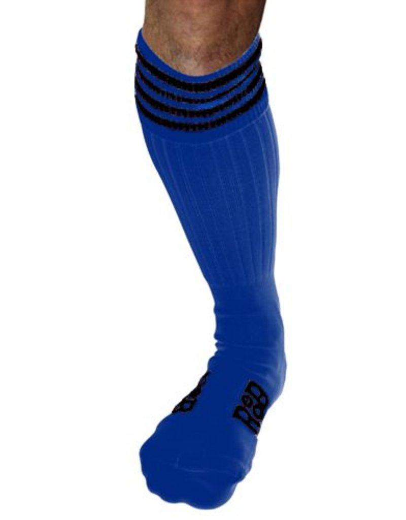 RoB RoB Boot Socks Blue with Black Stripes