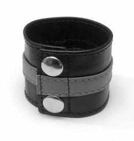RoB Leder Armgeldbörse mit grauem Streif