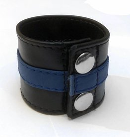 RoB Leder Armgeldbörse mit blauem Streif