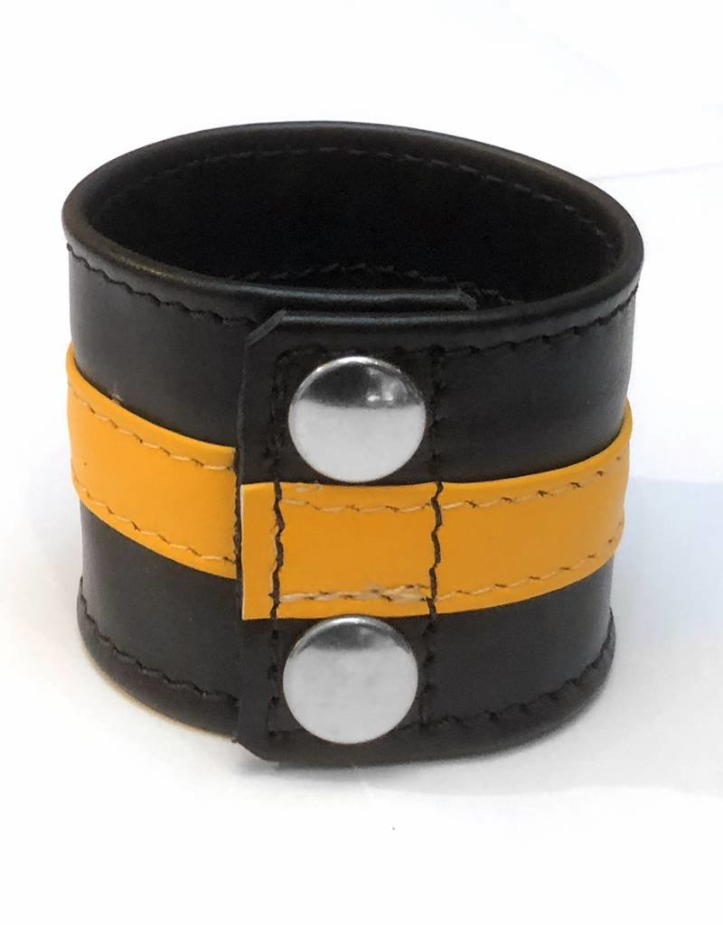 RoB Leather Wrist Wallet with yellow stripe
