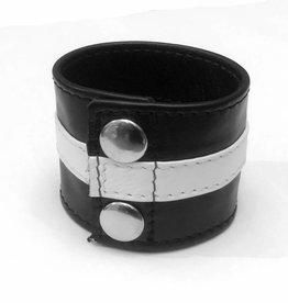 RoB Leather Wrist Wallet with white stripe