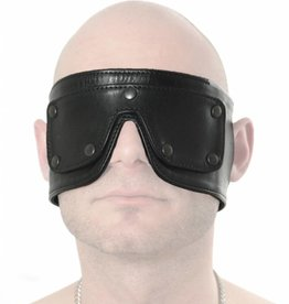 RoB Leather Blindfold with Detachable Eyes