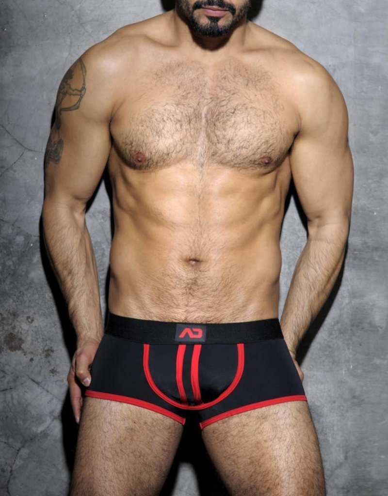 Addicted Stripe Fetish Boxer Black/Red