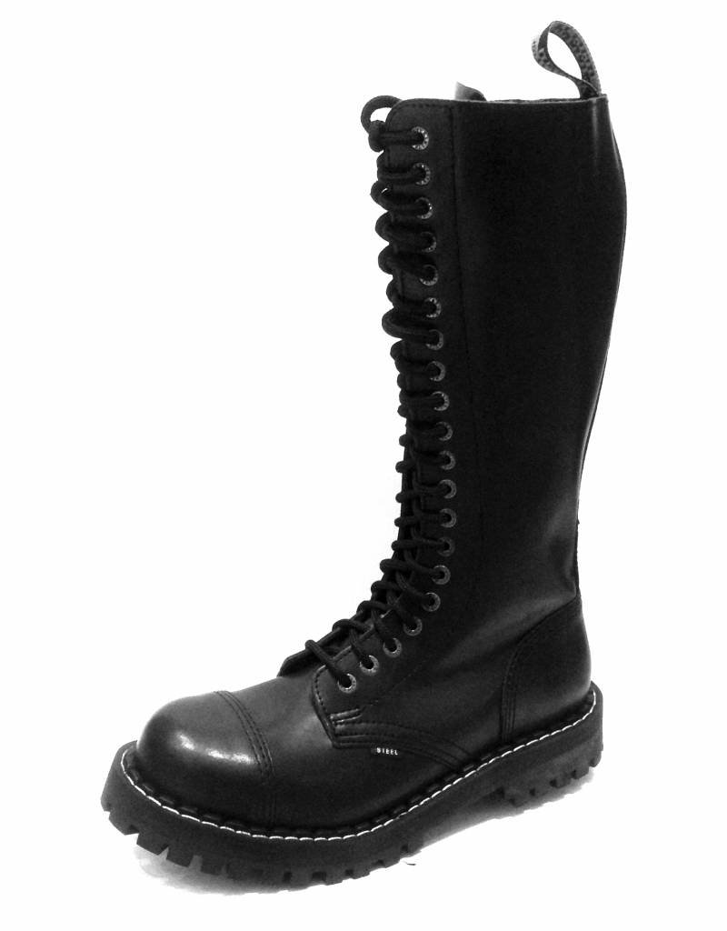 Steel Boots 20 holes Black