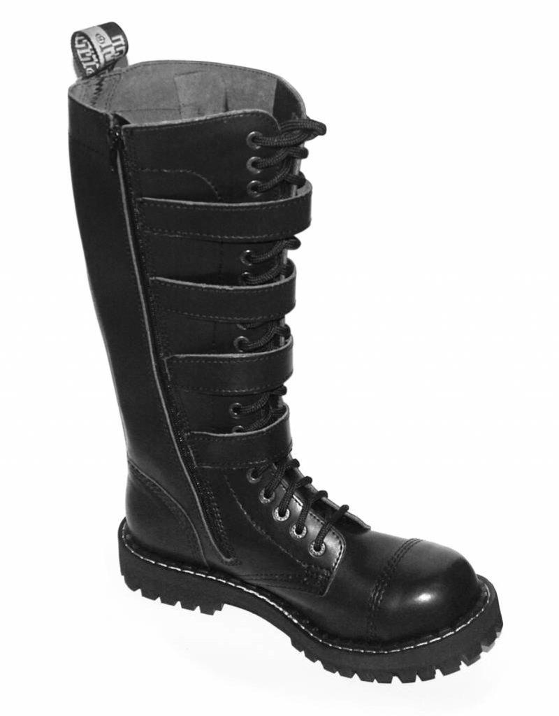 Steel Boots 20 holes, 4 buckles