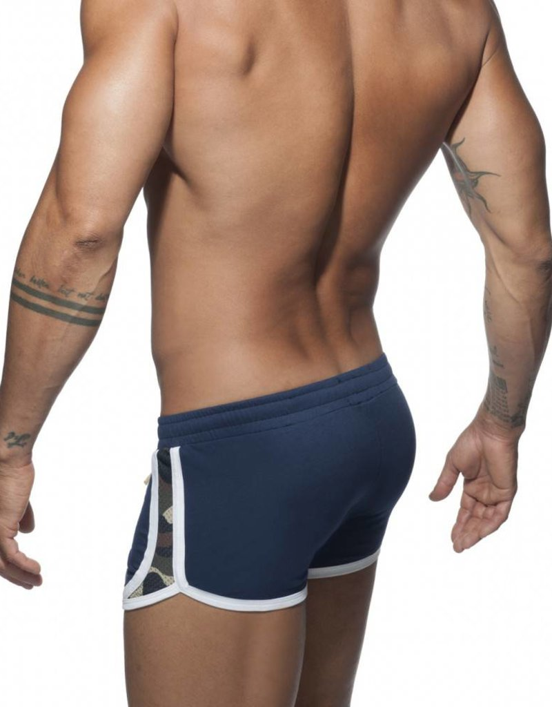 Addicted Camouflage Detail Shorts Navy