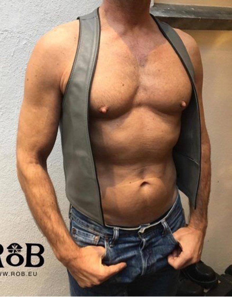 RoB Bartender waistcoat grey with black piping