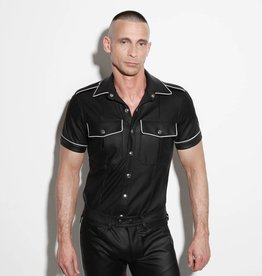 RoB F-Wear Uniformhemd zwart met witte bies