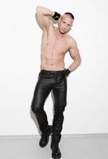 RoB F-Wear jeans, slim fit, blind pockets met rode streep