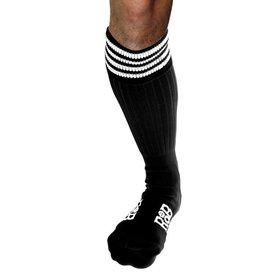 RoB RoB Boot Socks zwart met witte strepen