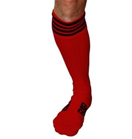 RoB RoB Boot Socks Red with Black Stripes