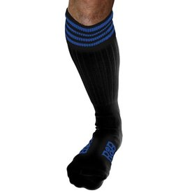 RoB RoB Boot Socks zwart met blauwe strepen
