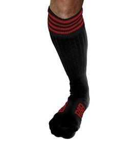 RoB RoB Boot Socks zwart met rode strepen