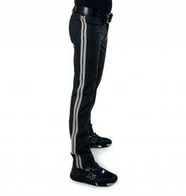 RoB F-Wear Full Zip Jeans met dubbele witte strepen