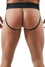 RoB F-Wear Jockstrap with Front Zip and white stripes