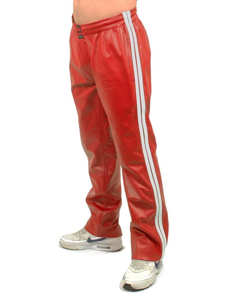 RoB Rode jogging broek met witte strepen