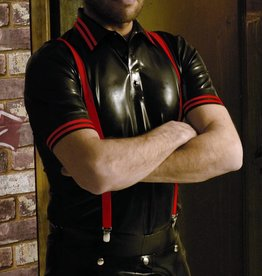 RoB Rubber Polo Shirt with red stripes