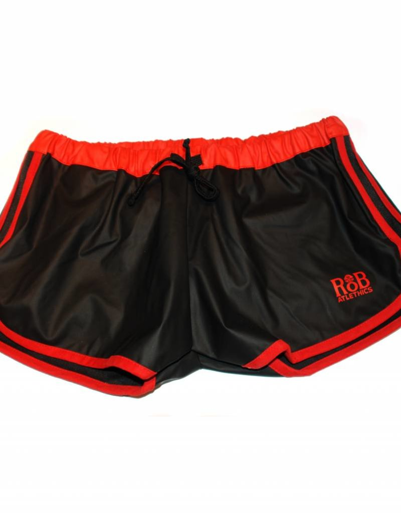 RoB F-Wear Sport Shorts black with red stripes