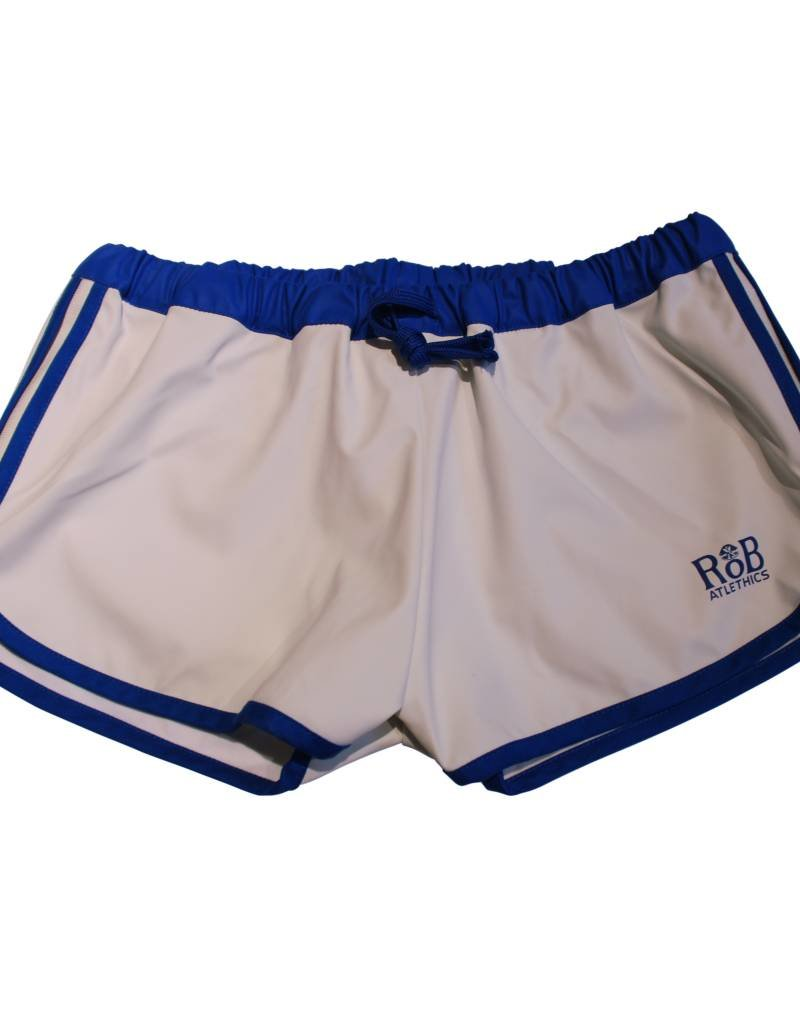 RoB F-Wear Sport Shorts white with blue stripes