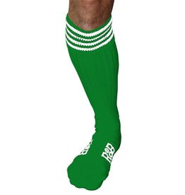 RoB RoB Boot Socks Green with White Stripes