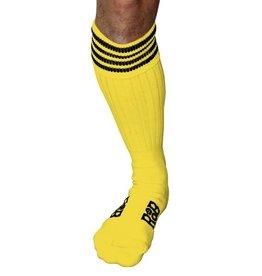 RoB RoB Boot Socks geel met zwarte strepen