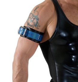 RoB Leather Bicepsband with Buckle, Blue