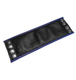 RoB Leather Wrist Wallet, Blue Piping