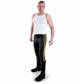 RoB F-Wear Jeans, Gelbe Doppelstreifen