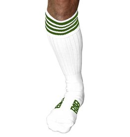 RoB RoB Boot Socks White with Green Stripes