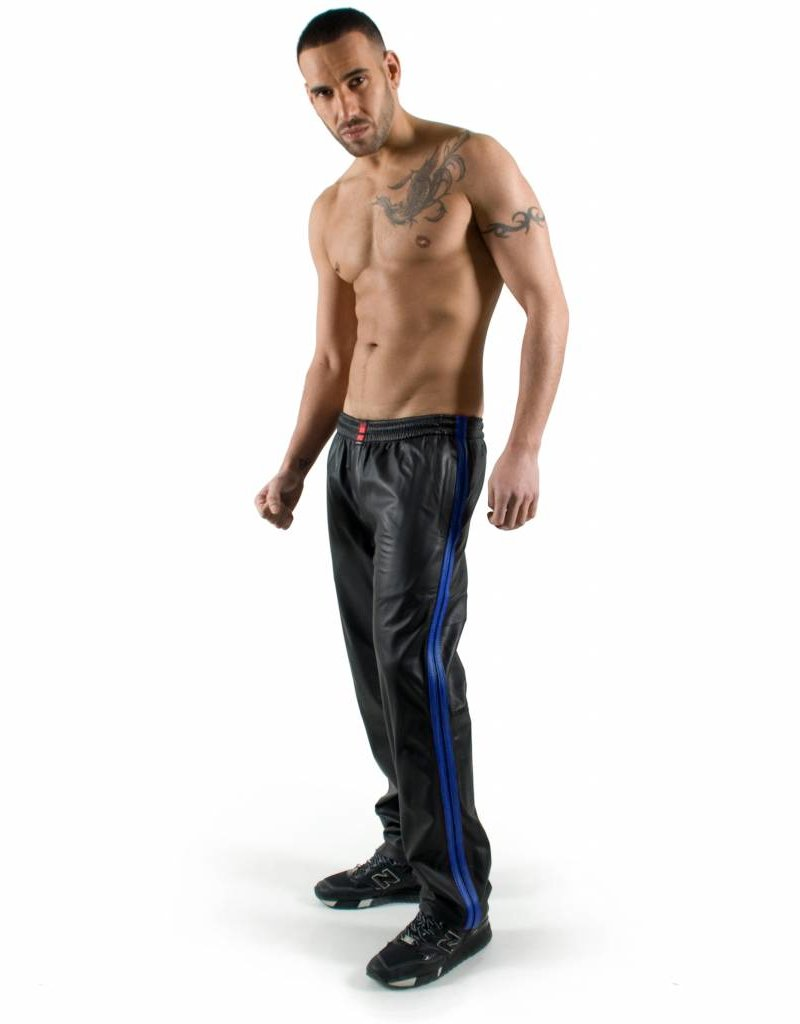 RoB Black Jogging Pants with Blue Stripes