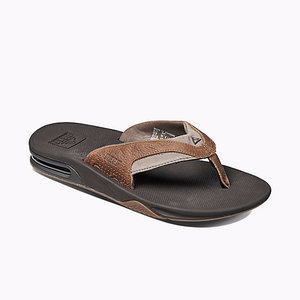 Reef Slipper Leather Fanning Bruin