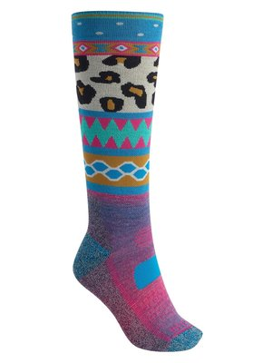 Burton Dames Performance Midweight Sock Wildstyle