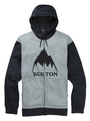 Burton Oak Full-Zip Hoodie Gray Heather
