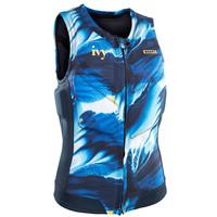 Women Impact vest Ivy FZ Blue Dessin