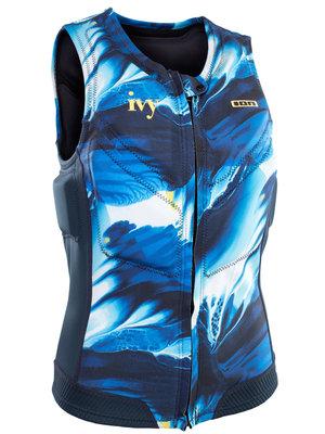ION Women Impact vest Ivy FZ Blue Dessin