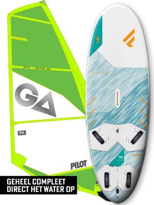 Fanatic Windsurfset Gecko HRS + Pilot Green