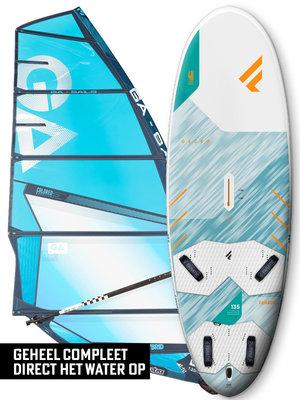 Fanatic Windsurfset Gecko HRS + Hybrid Blauw