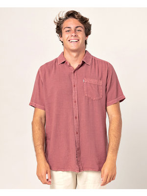 Ripcurl New Ventura Shirt Ss Rood