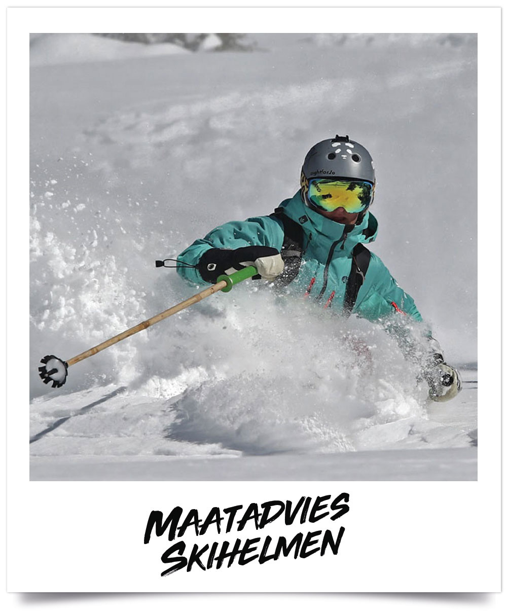 Maattabel Ski en Snowboard helmen