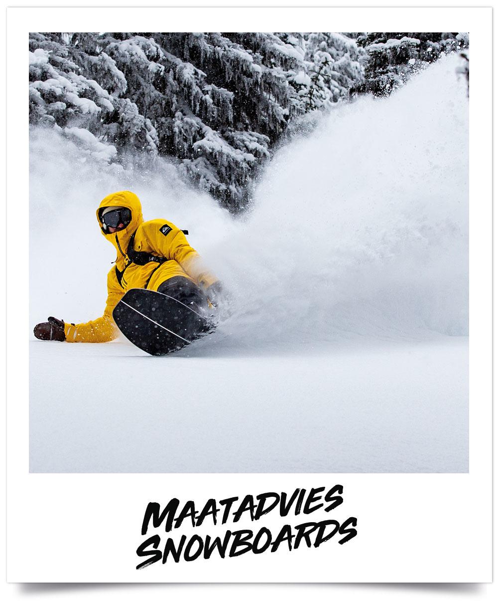 Maattabel Snowboards
