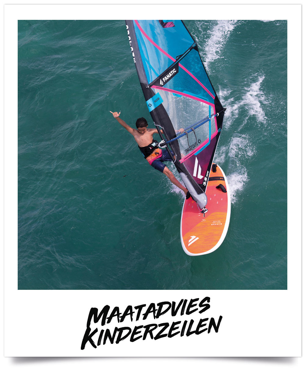 Maattabel Kinder Windsurfzeilen