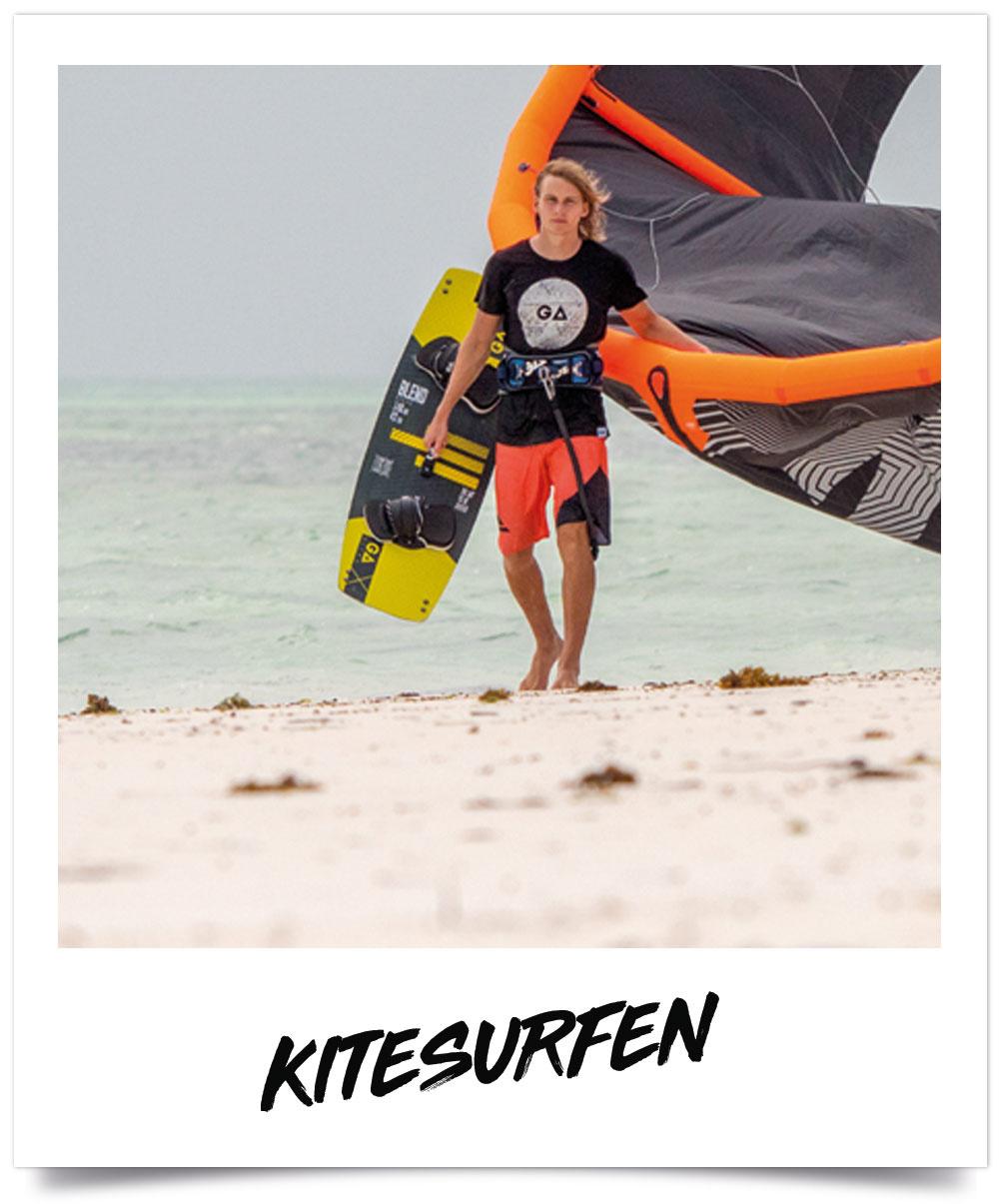 Kitesurf - kiteboard gear