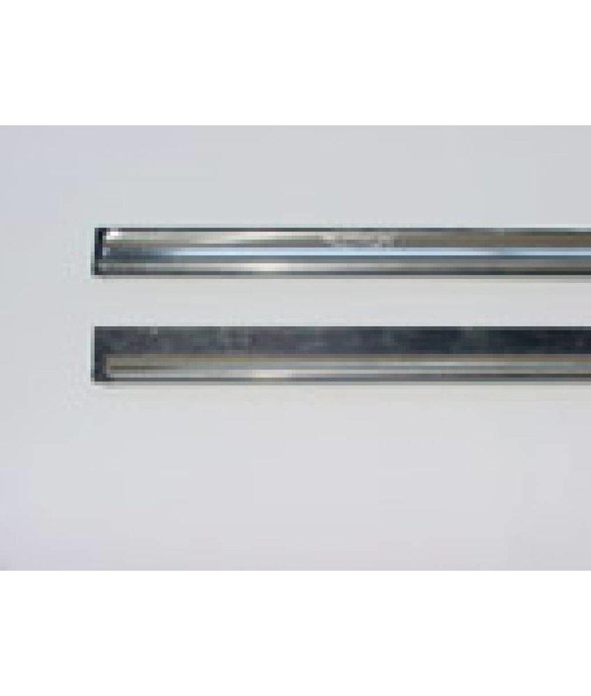 Ettore Clipless rvs rail+rubber 25 cm.