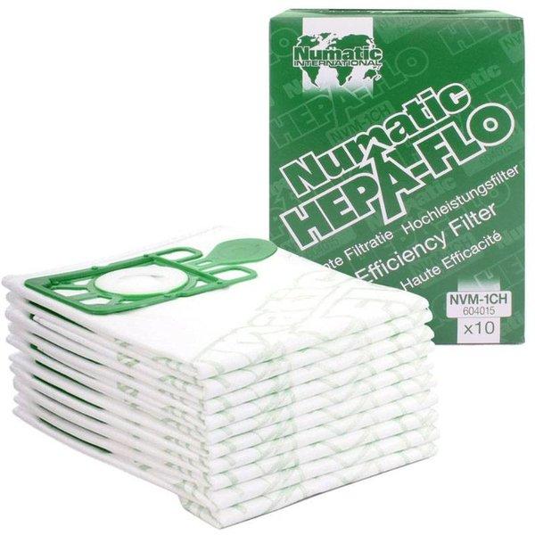 Numatic NVM-1CH HepaFlo Stofzakken 130-250 modellen (10 stuks)