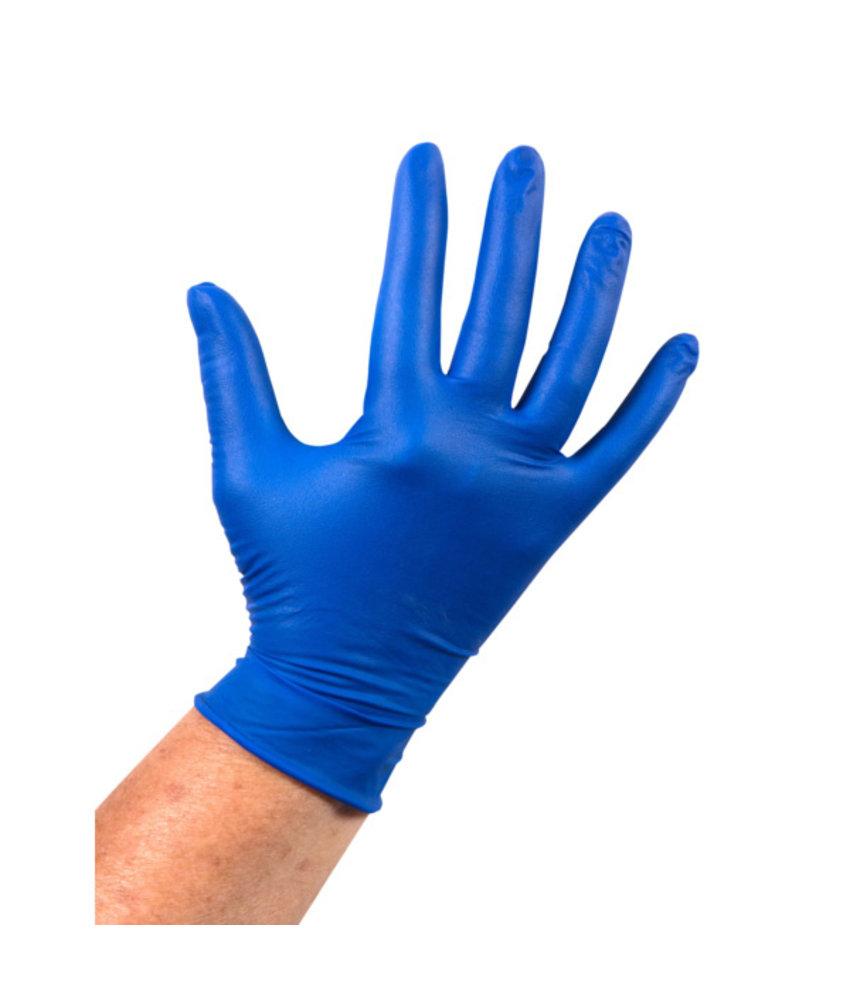 Latex handschoen, Medium (Ongepoederd, Blauw)