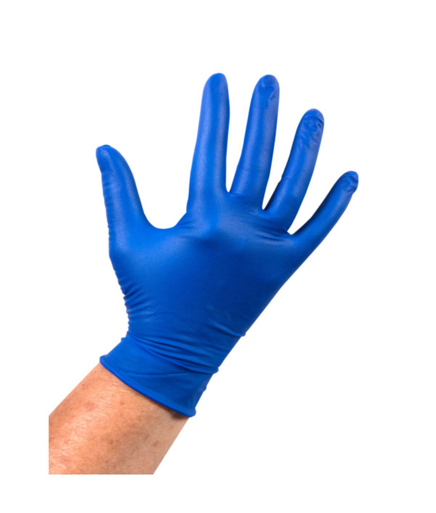 Latex handschoen, XL (Ongepoederd, Blauw)