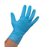 Nitrile handschoen, Small (Ongepoederd, Blauw)